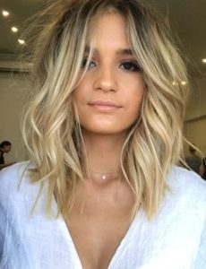 Balayage Summer Lob Hairstyles for 2018