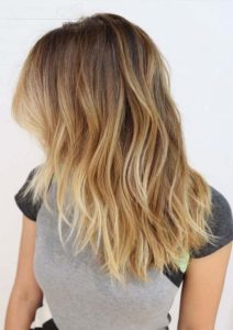 Blond Ombre Medium Length Hairstyles in 2021