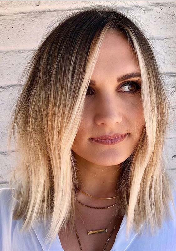 18 Bright Blonde Lob Styles and Trends for 2018