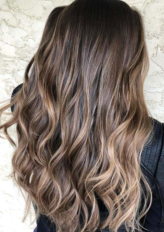 33 Awesome Chocolate Brown Hair Color Ideas with Balayage Highlights 2018