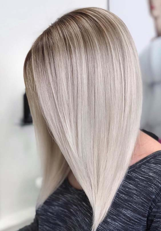 43 Gorgeous Blonde Hair Colors for Long Sleek Hairstyles in 2021