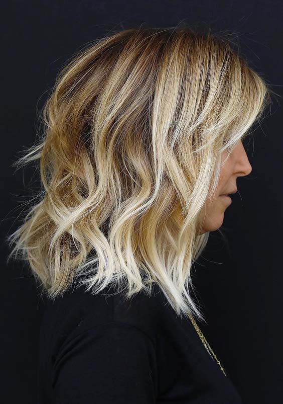 45 Natural Medium Length Blonde Haircuts for 2018
