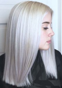 Platinum Blonde Hair Color Trends 2018
