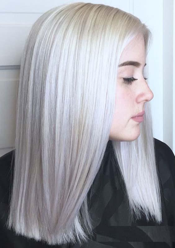 36 Popular Platinum Blonde Hair Color Trends for 2021