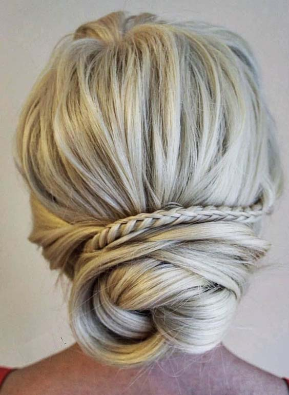 44 Pretty Bridal Updo Hairstyles Ideas for 2018