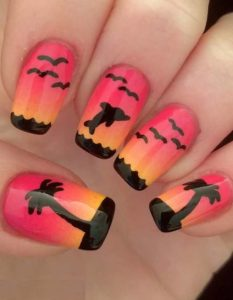 Sunset Nail Art Designs in 2021