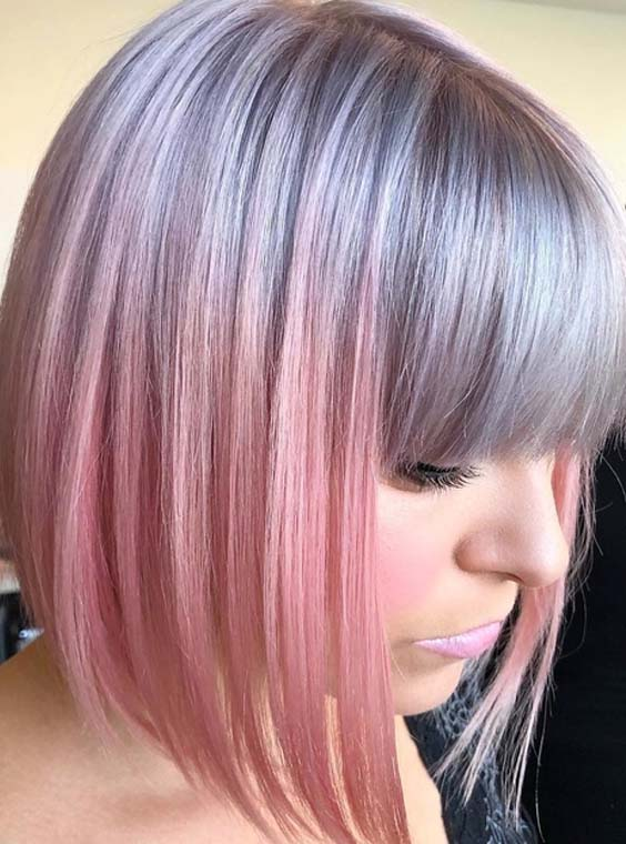 36 Pretty Silver Grey to Pastel Pink Hair Colors for 2018