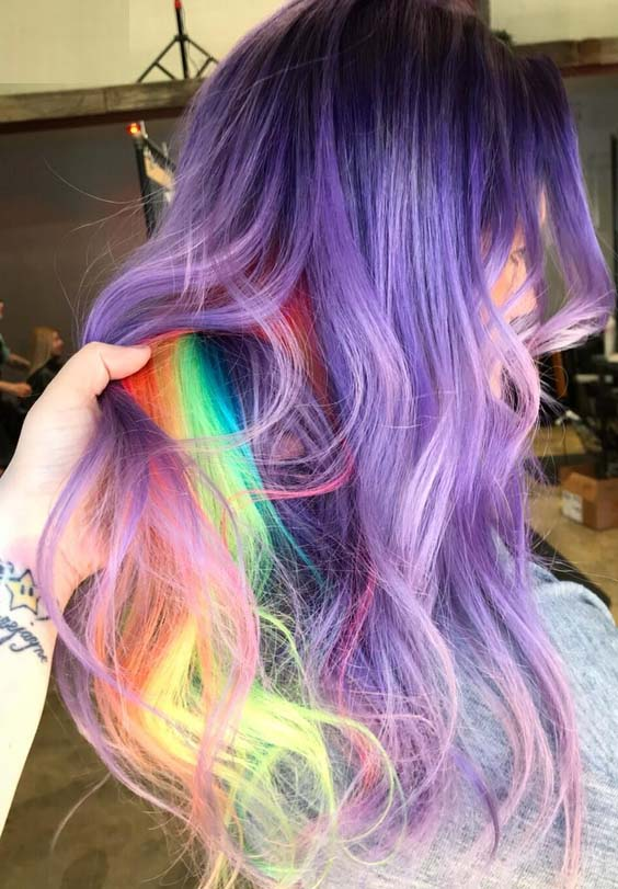 33 Adorable Smokey Pastel Purple Hair Color Ideas for 2018