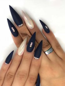 Stiletto Shape Long Nail Designs in 2021