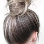 Top Knot Blonde Balayage Style in 2021