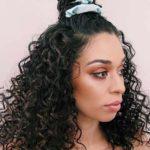 Top Knot Bun with Long Curls 2018