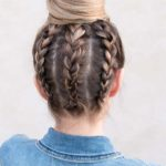 Upside Down Braided Bun Styles for 2021