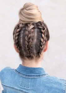 Upside Down Braided Bun Styles for 2018