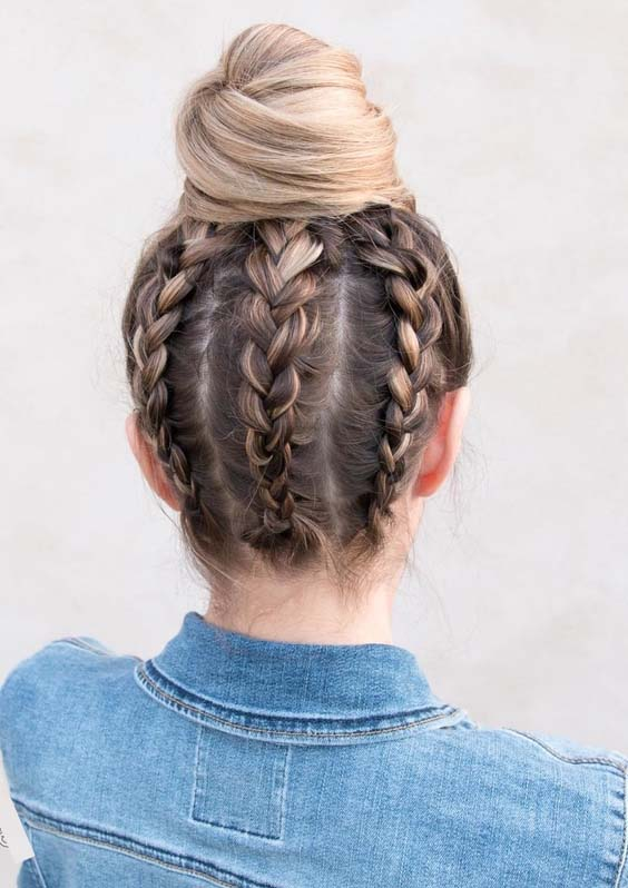 62 Unique Upside Down Braided Bun Styles for 2018