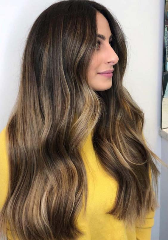 48 Wonderful Long Balayage Hairstyles for Women 2018