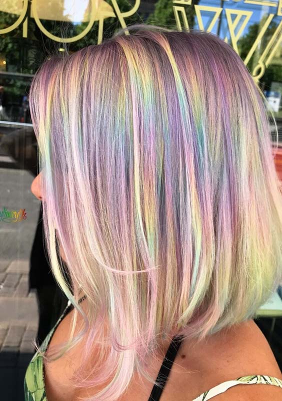 26 Adorable Rainbow Hair Coloring Techniques in 2018
