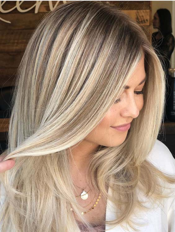 41 Gorgeous Balayage Hair Color Ideas With Blonde Highlights for 2021