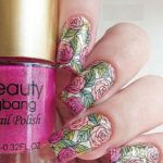 Beautiful Rose Stamping Nail Designs for 2021
