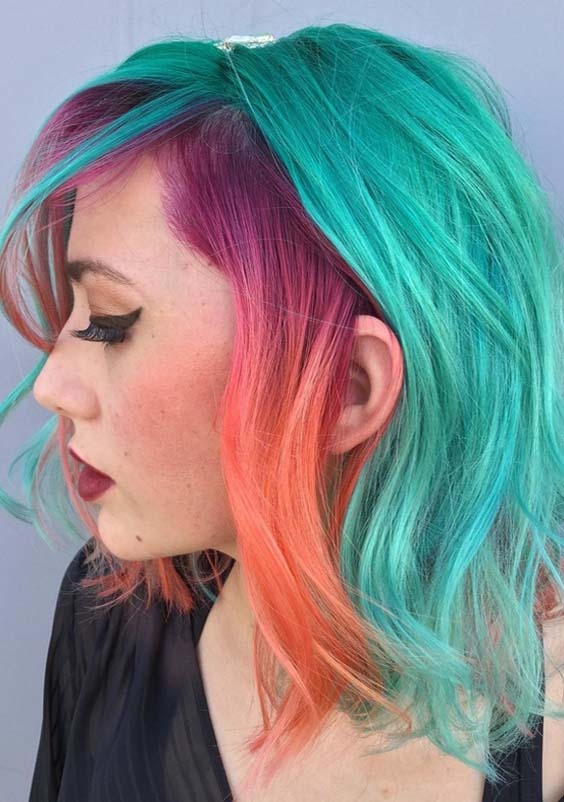 15 Best Hair Colors Combinations for Medium Haircuts 2018