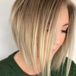 Blonde Angled Bob Haircuts for 2018