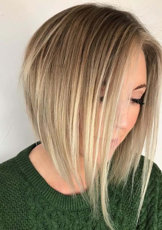 35 Gorgeous Blonde Angled Bob Haircuts for 2021