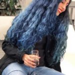 Bold Navy Blue Curls for Women 2018