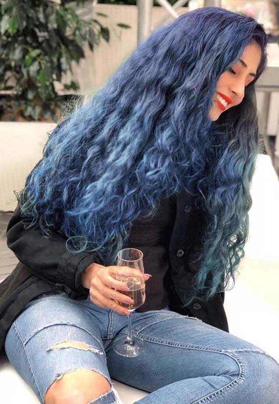 55 Bold Navy Blue Curls for Women 2018