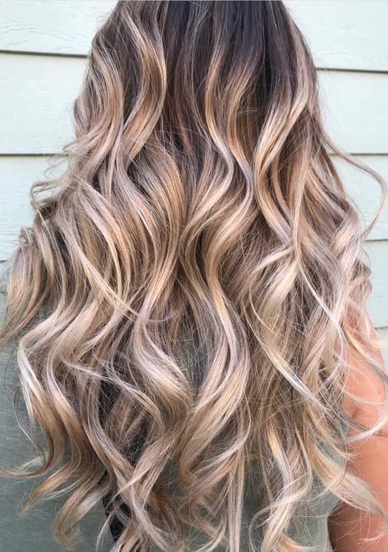 18 Beautiful Buttercream Balayage Highlights Inspirations for 2018