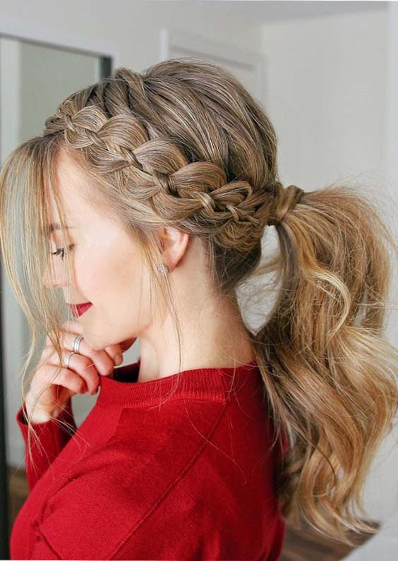35 Charming Four Strand Braid Ponytails To Show off in 2018
