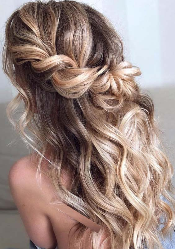40 Best Half Up Half Down Summer Braid Balayage Highlights for 2018