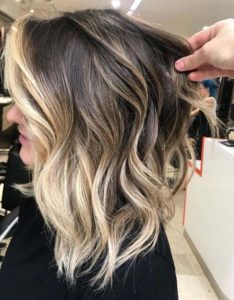 High Contrast Balayage Ombre Highlights for 2021