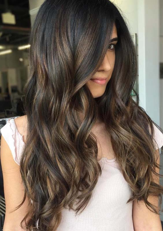 55 Hot Chocolate Brown Hair Color Ideas for Women 2018 | Modeshack