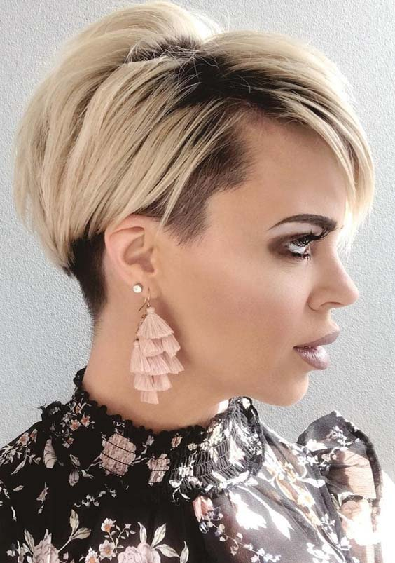 50 Hottest Blonde Pixie Haircuts with Dark Roots in 2018