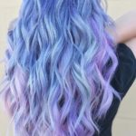 Icy Blue, Lavender and Pink Hair Color Ideas in 2018