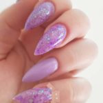 Lavendar Glitter Nail Art Designs for 2021