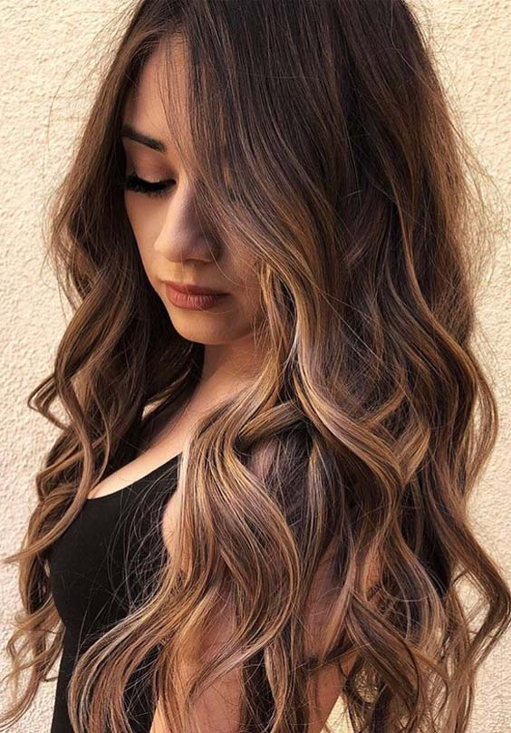 46 Lovely Long Layered Balayage Hairstyles to Try in 2021