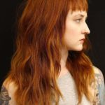 Long Lyered Red Wavy Hairstyles with Bangs for 2018