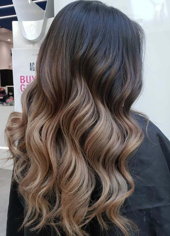 32 Nice Sombre Hair Colors for Long Wavy Hair in 2018