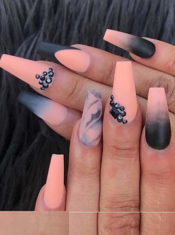 30 Trending Orange Blended Nail Art Designs for 2018