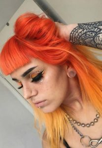 Orange & Yellow Hair Color Combinations in 2018