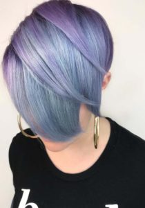 Pastel Purple Short Haircuts in 2021