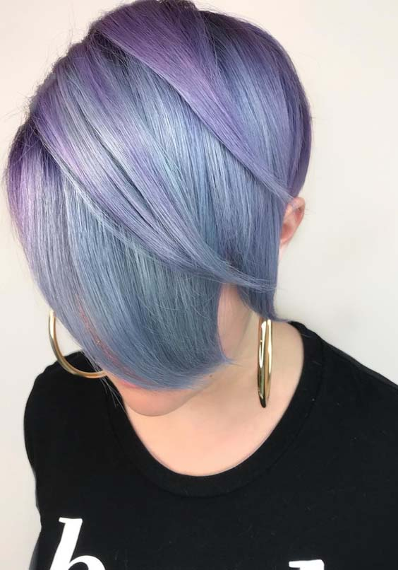 36 Popular Pastel Purple Short Haircuts for Women in 2021
