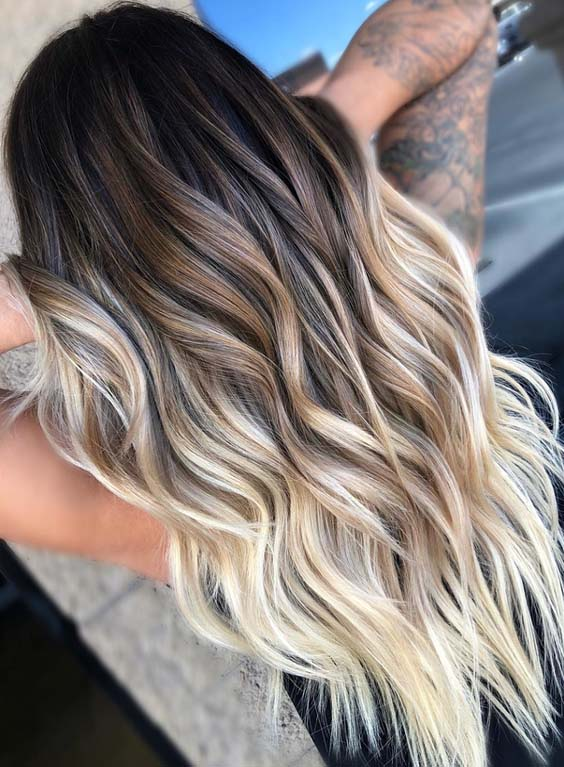 44 Perfections of Bombshell Balayage Hair Colors for 2021