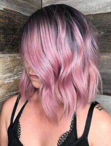 Pink Hair Colors with Shadow Roots in 2021