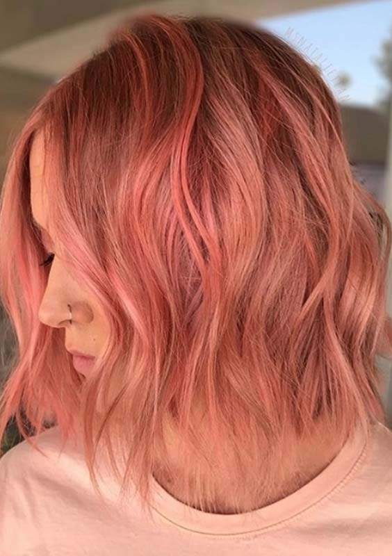 49 Pretty Peach Hair Color Trends to Show Off in 2021