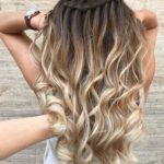 Pretty Waterfall Braids with Stunning Hair Color Contrasts for 2018