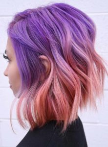 Purple to Pink Hair Colors Combinations for 2021