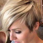 Short Blonde Haircuts with Side Bangs for 2018