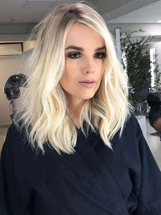 48 Best Short to Medium Platinum Blonde Haircuts for 2021