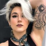 Side Swept Platinum Blonde with Dark Roots in 2018